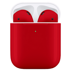 Навушники Apple AirPods 2 Red with Wireless Charging Case