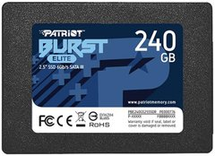 "SSD-накопичувач 240GB Patriot Burst Elite  2.5"" SATAIII TLC (PBE240GS25SSDR)"