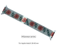 Ремінець ArmorStandart Apple Milanese Loop Band for Apple Watch 38mm/40mm Flowers Fuchsia
