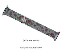 Ремінець ArmorStandart Apple Milanese Loop Band for Apple Watch 38mm/40mm Flowers Red Lily