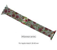 Ремінець ArmorStandart Apple Milanese Loop Band for Apple Watch 38mm/40mm Flowers Rose