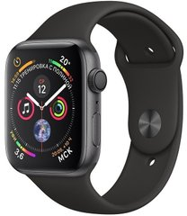 Смарт-годинник Apple Watch Series 4 GPS, 44mm Space Grey Aluminium Case with Black Sport Band (MU6D2UA/A)
