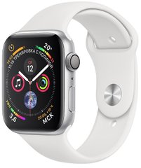 Смарт-годинник Apple Watch Series 4 GPS, 40mm Silver Aluminium Case with White Sport Band (MU642UA/A)