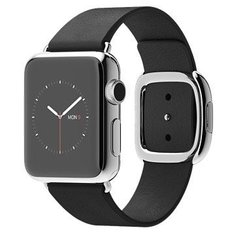 Смарт-годинник Apple Watch 38mm Stailnless Steel Case with Black Modern Buckle (MJYL2)