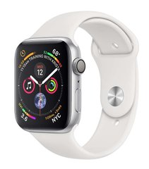 Смарт-годинник Apple Watch Series 4 44mm Silver Aluminium Case with White Sport Band (MU6A2)