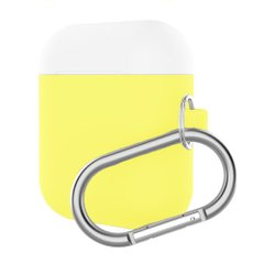 Чохол ArmorStandart Airpods Silicon case mix color with hook yellow/white (in box)