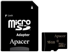 Карта пам'яті micro-SDHC Apacer 16GB UHS-1 Class 10 + SD adapter