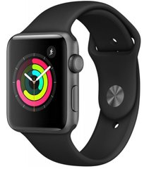 Смарт-годинник Apple Watch Series 3 GPS, 42mm Space Grey Aluminium Case with Black Sport Band (MTF32FS/A)
